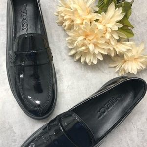New The Flexx Patent Black Slip on Loafers
